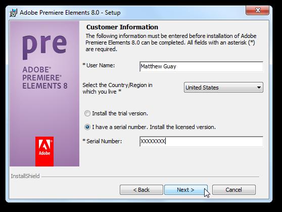Adobe Premiere Elements V2.0