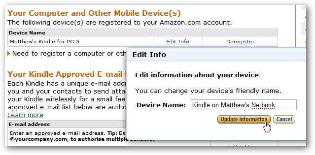 How to deactivate kindle from amazon account