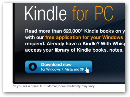 Deactivate Kindle for PC Online or on the Desktop