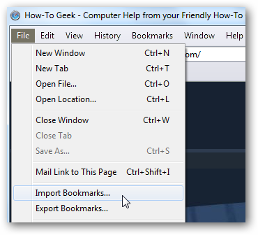 To the location where you backed up your firefox bookmarks html file