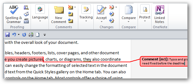 How To Add Comments to Documents in Word 2010
