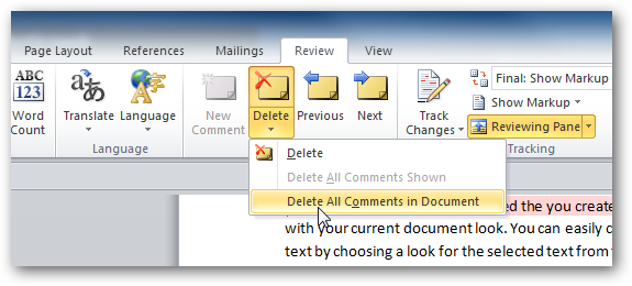 how to delete second page in word 2010