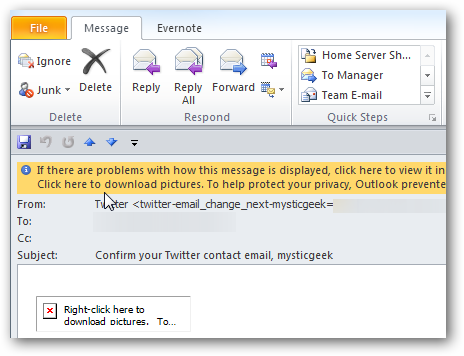 Beginner: Make Outlook Always Display Images in Emails from Trusted
