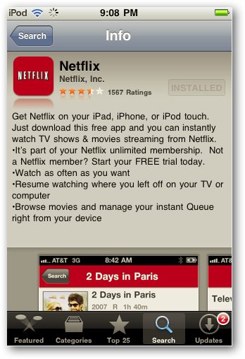 Watch Netflix On Your iPhone or iPhone Touch Without a