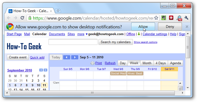 How to Enable Desktop Notifications for Google Calendar in Chrome