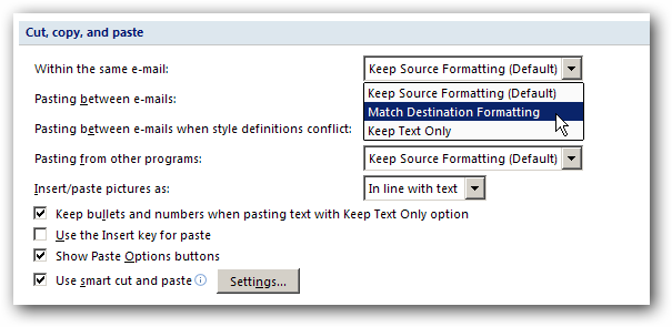 outlook how to get arrange by drop down
