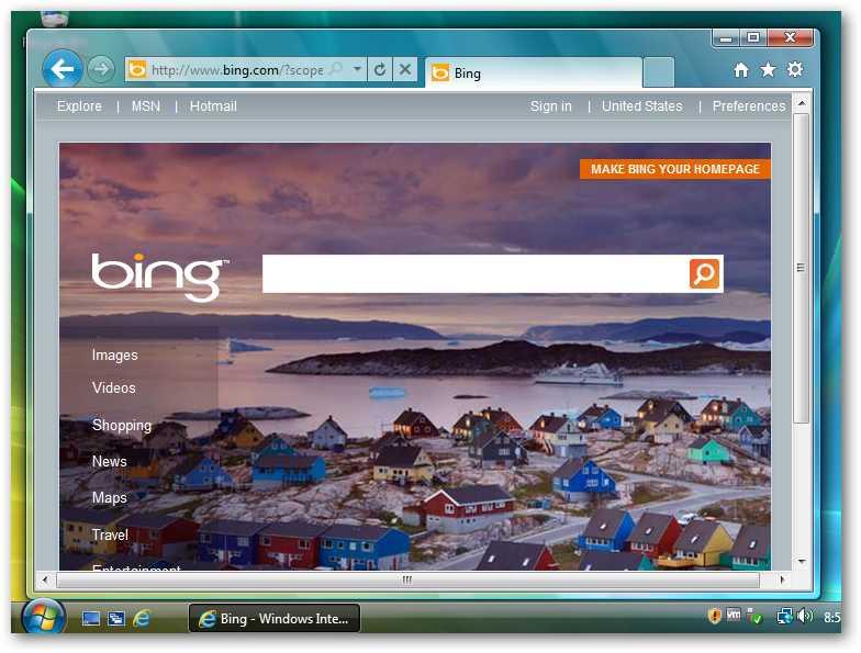 Using Internet Explorer 9 With Windows Vista