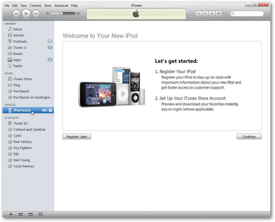 Transfer Music, Apps, and Other Data from an Old Gen iPod to a New One