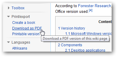 create an ebook or pdf from wikipedia articles for offline reading