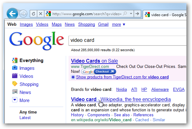 how to add google search to internet explorer 9