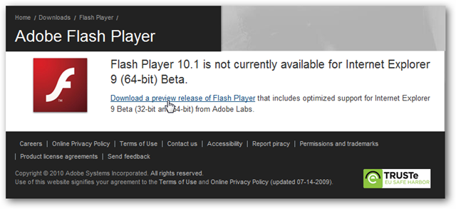flash player 10.1 for windows 7 64 bit