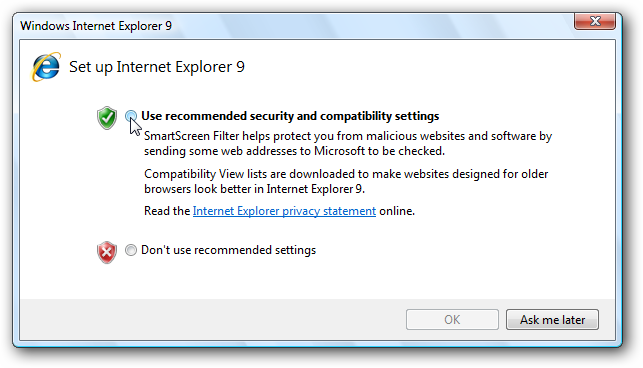 free internet explorer for windows vista home premium