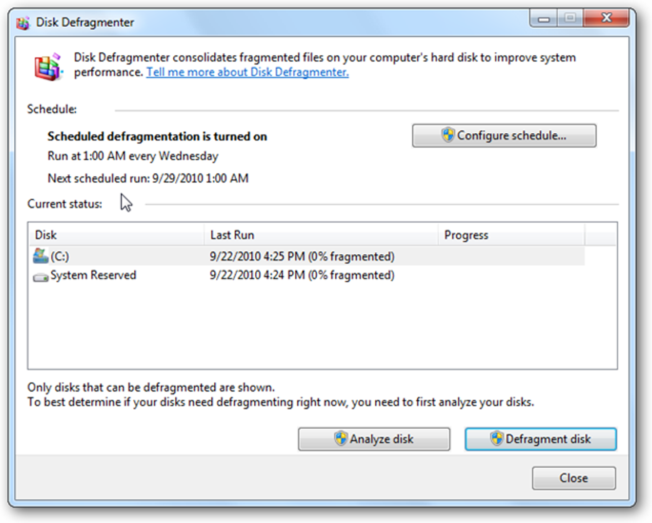 Create Your Own Windows 7 Style Automatic Defrag In Windows Xp