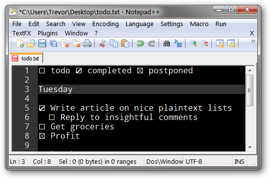 Use A Unicode Text Trick To Make Lists With Checkboxes