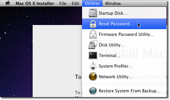 How to Reset Your Forgotten Mac OS X Password