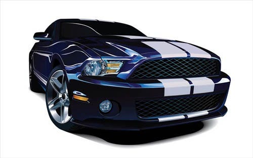 photorealistic-mustang-vector-car