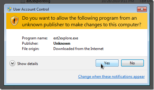 security prompt