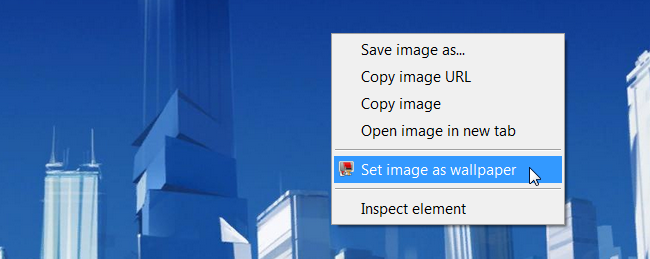 How To Set An Image As Wallpaper From Google Chrome