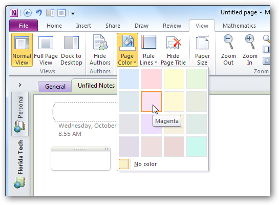 Personalize Your OneNote 2010 Notebooks With Backgrounds and More – Line Paper Background