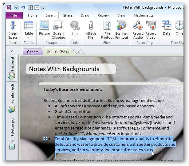 how to add a picture to a note in onenote