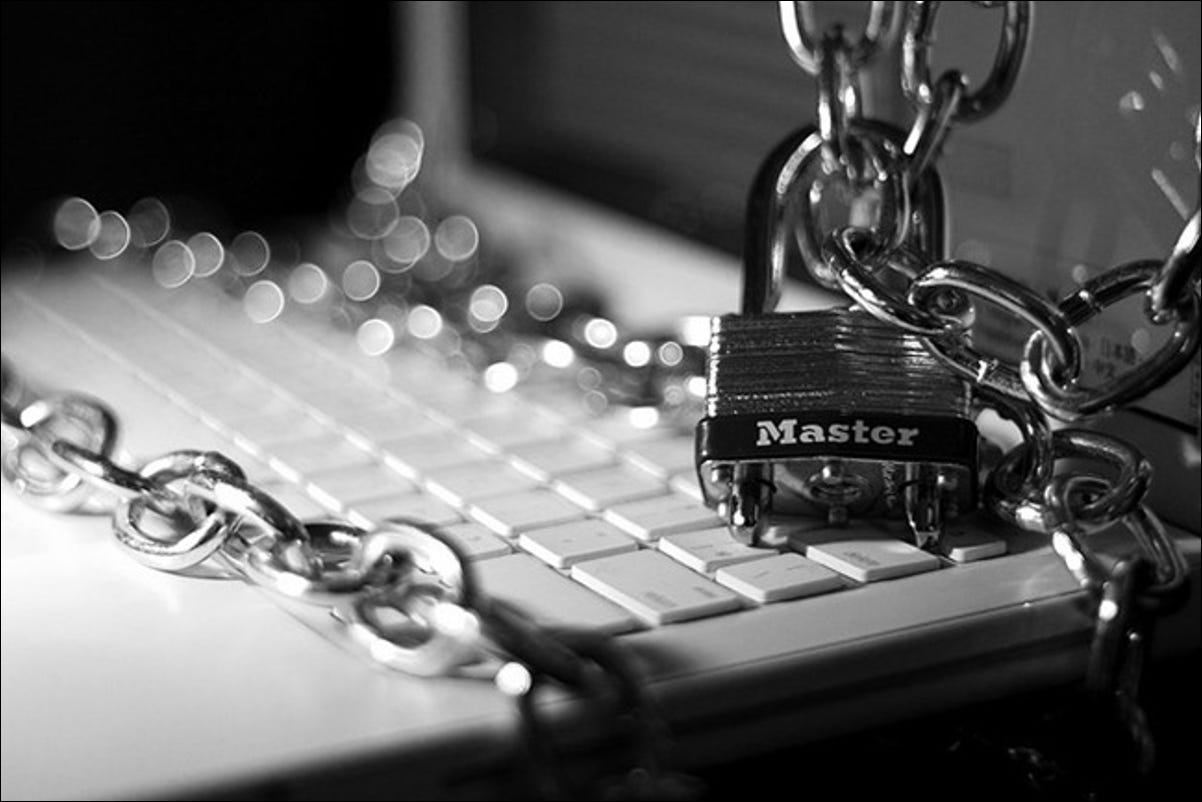 lock and chained computer
