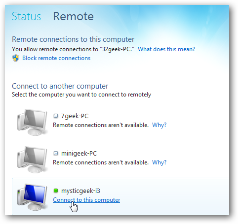 how to remotely connect to another computer windows 10