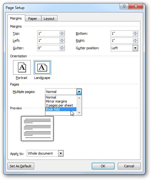 Create Printable Booklets In Microsoft Word