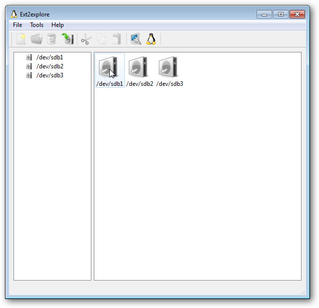 ext2explore window