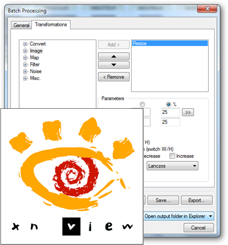 Xnview resize