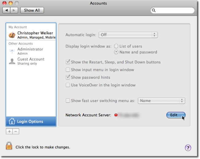 AirV's Blog » Archive du blog » Enable root user in MacOS X