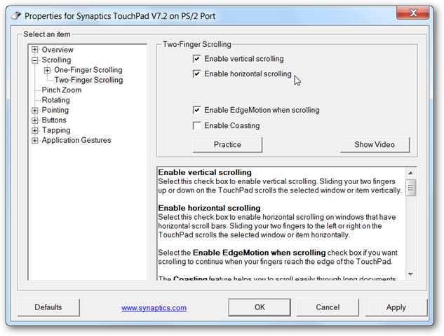 how to get into elan touchpad settings