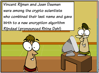 The Rijndael Encryption Algorithm Was Adopted By US Government As Standard Symmetric Key Or Advanced AES