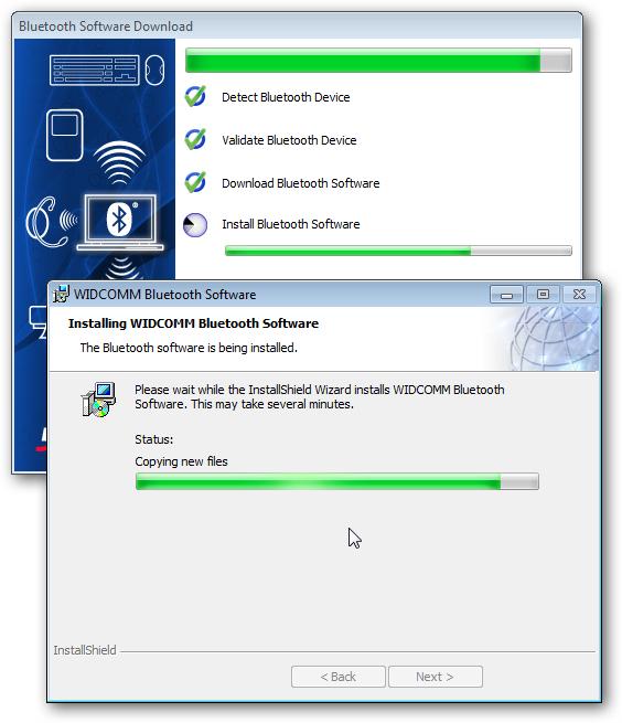 Software installation.