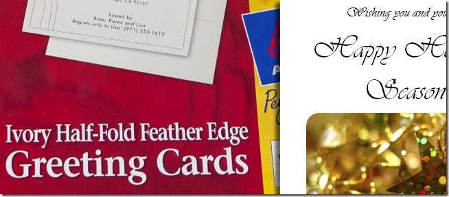design and print your own christmas cards in ms word part 1 - Create Christmas Cards