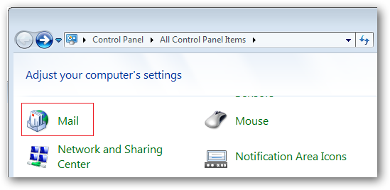 Mail Control Panel Icon