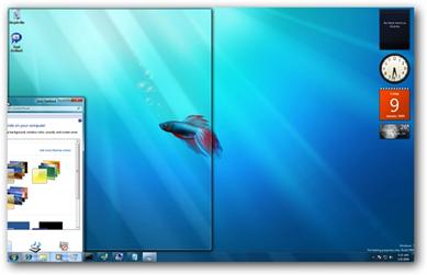 Windows 7 Mouse Drag Arrange
