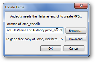 How To Add MP3 Support to Audacity (to Save in MP3 Format)
