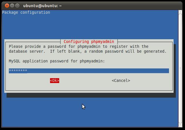 18 password for phpmyadmin