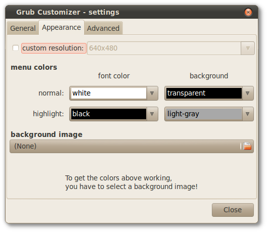 Grub Customizer - settings_006