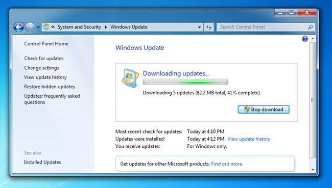 microsoft windows 7 sp1 patch download