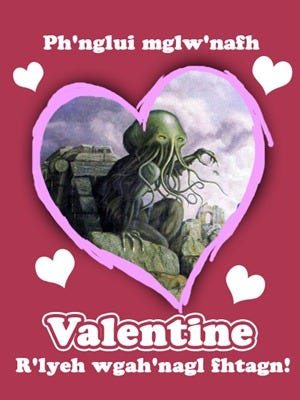 saint valentin Cthulhu
