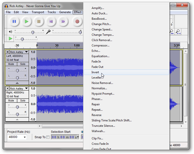 how to cut tracks in audacity