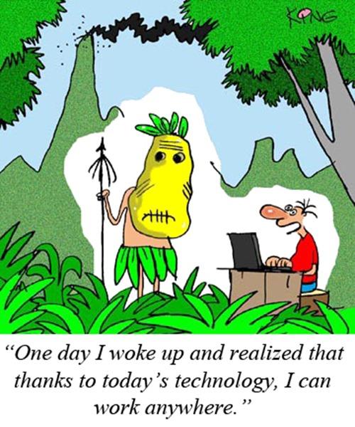 Telecommuting Cartoon