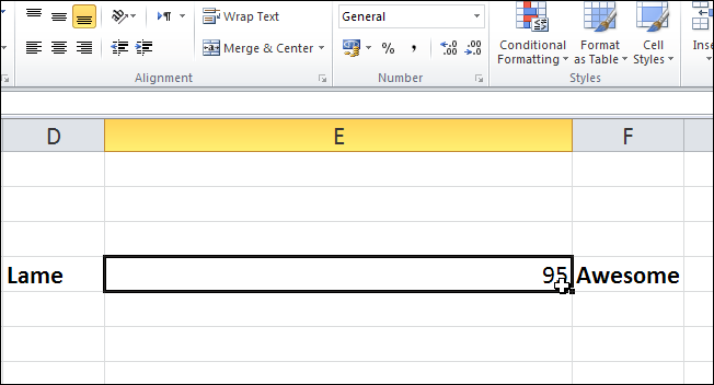 how to make excel cells look raised