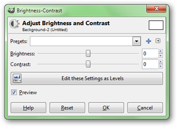 how to change brightness contrast in paint