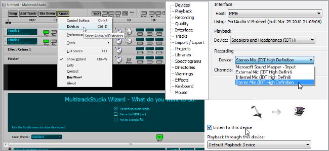 Как одновременно записывать несколько музыкальных устройств