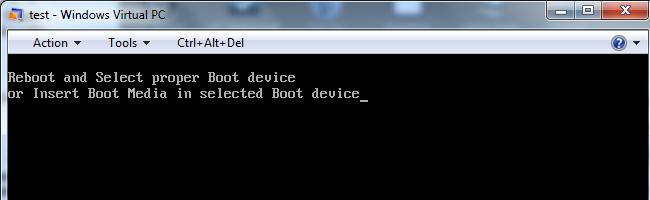 no bootable device found