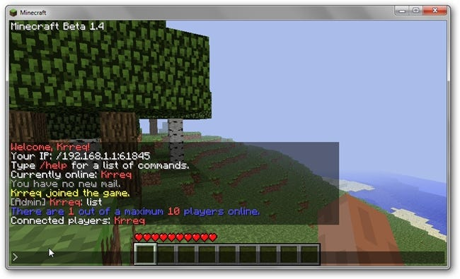 how to join own server minecraft