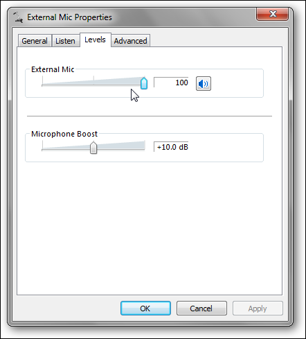 ext mic properties