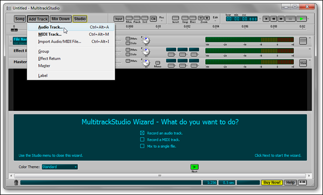 mts add track